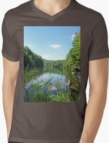 Wild and Wonderful Rustic Wilderness Lake Mens V-Neck T-Shirt