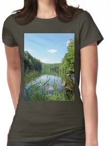 Wild and Wonderful Rustic Wilderness Lake Womens Fitted T-Shirt