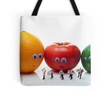 Watching Festival Parade Tote Bag