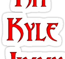 Evan Peters Characters Red Font Sticker