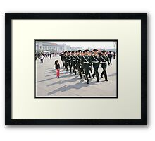 Girl in Tiananmen square Framed Print