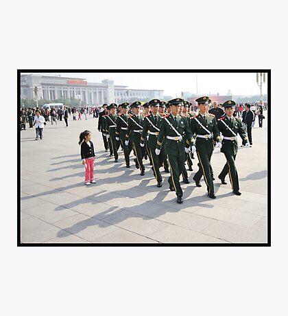 Girl in Tiananmen square Photographic Print