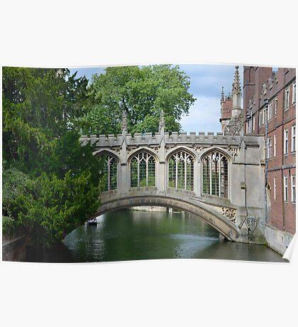 Bridge of Sighs Cambridge Poster