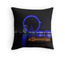 London Eye by Night Throw Pillow