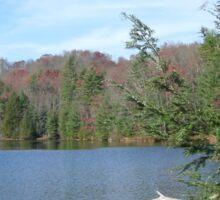 Nice & Relaxing West Virginia Mountain Lake Scene Sticker