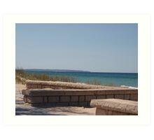 Empire Beach on Lake Michigan Art Print