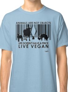 VeganChic ~ Animals Are Not Objects Classic T-Shirt