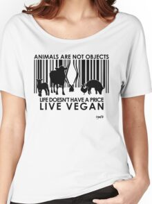 VeganChic ~ Animals Are Not Objects Women's Relaxed Fit T-Shirt