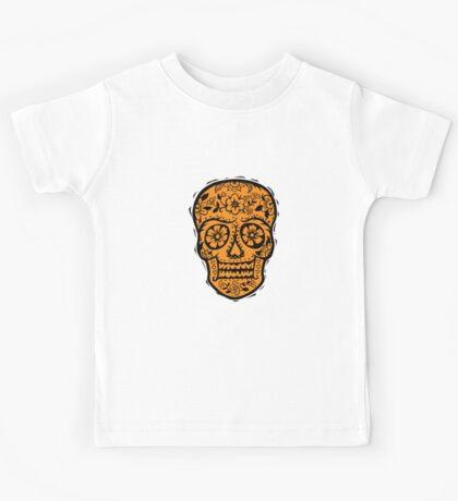 Sugar Skull SF Halloween on blk Kids Clothes