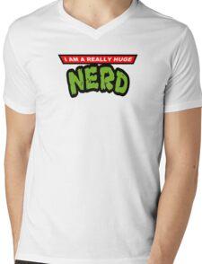 Teenage Mutant Nerdles Mens V-Neck T-Shirt