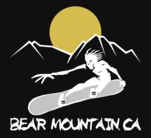 Bear Mountain, California Snowboarding Dark Kids Clothes