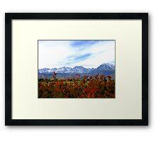 A Cool Sierra Fall Framed Print