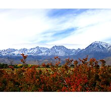 A Cool Sierra Fall Photographic Print