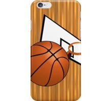 Basketball with Hoop iPhone Case/Skin