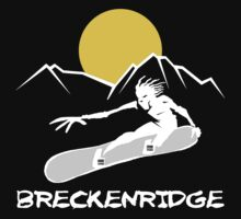 Breckenridge, Colorado Snowboarding Dark by SportsT-Shirts