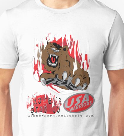 usa warriors bear by rogers bros Unisex T-Shirt