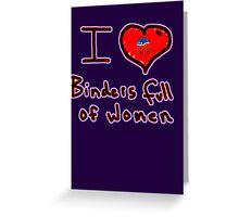i love binders full of women Mitt Romney Greeting Card