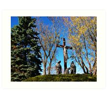 Memories of Golgotha Art Print