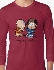 Aang & Katara (Avatar / Calvin & Hobbes) Long Sleeve T-Shirt
