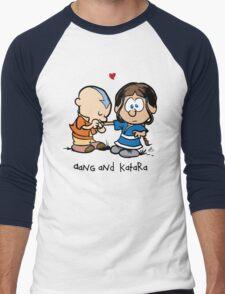 Aang & Katara (Avatar / Calvin & Hobbes) Men's Baseball ¾ T-Shirt