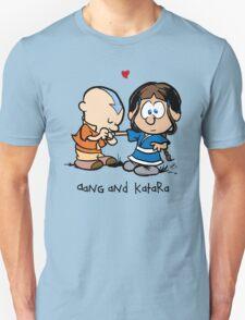 Aang & Katara (Avatar / Calvin & Hobbes) T-Shirt