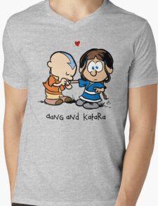 Aang & Katara (Avatar / Calvin & Hobbes) Mens V-Neck T-Shirt