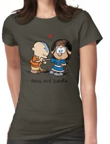 Aang & Katara (Avatar / Calvin & Hobbes) Womens Fitted T-Shirt