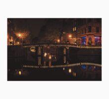 Amsterdam Night in Yellow and Purple Baby Tee