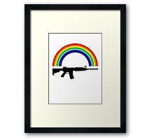 Rainbow Gun T Shirt Framed Print