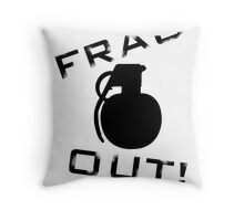 Frag Out T Shirt Throw Pillow