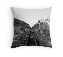 Rail Way Line Throw Pillow