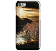 Cougar Mountain Lion Arty iPhone Case iPhone Case/Skin