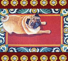 Pug on a Rug by M. E.  Bilisnansky McMorrow