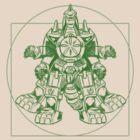 Vitruvian Dragon Zord Green by rabzila