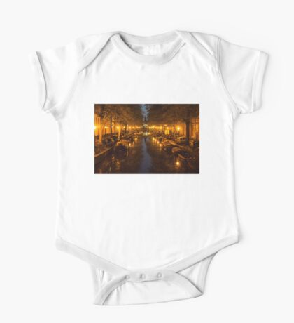 Amsterdam Canal in Golden Yellow One Piece - Short Sleeve