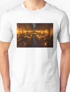 Amsterdam Canal in Golden Yellow Unisex T-Shirt