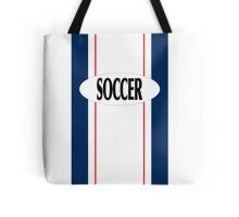 Red, White, & Blue SOCCER gear for the fan Tote Bag