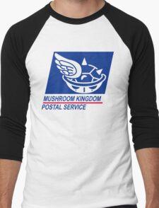 mushroom kingdom postal service Men's Baseball ¾ T-Shirt
