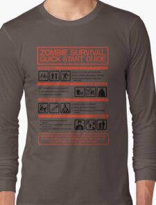 Zombie Survival - Quick Start Guide Long Sleeve T-Shirt