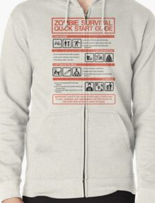 Zombie Survival - Quick Start Guide Zipped Hoodie