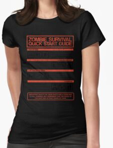Zombie Survival - Quick Start Guide Womens Fitted T-Shirt