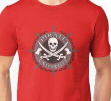 Pirate University Black and white Unisex T-Shirt