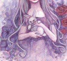 Alice in Wonderland and the White Rabbit Sticker
