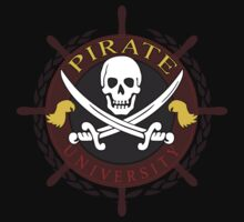 Pirate University Color Baby Tee