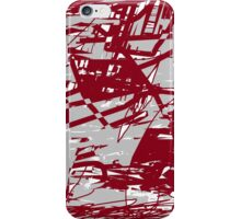 Funk (maroon and grey) iPhone Case/Skin