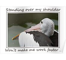 Over my Shoulder Poster