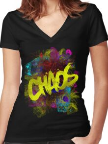 chaos Women's Fitted V-Neck T-Shirt