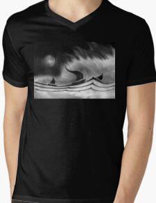 The Black Storm Mens V-Neck T-Shirt