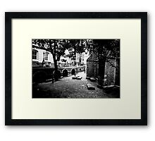 The yard of Temple Church Framed Print