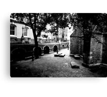 The yard of Temple Church Canvas Print